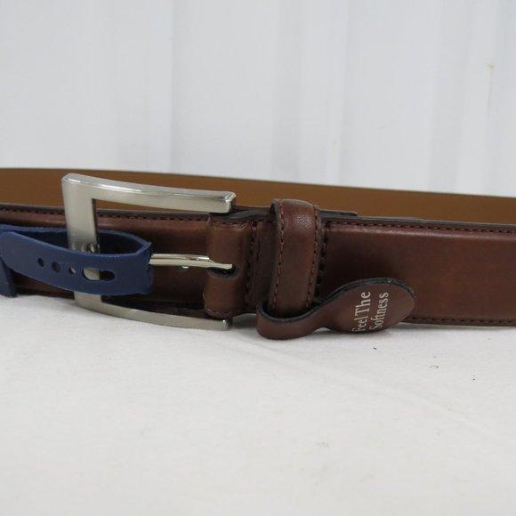 Croft & Barrow Other - Croft & Barrow Mens Classic Leather Tan Brown Belt